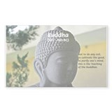 Eastern Philosophy: Buddha Rectangle Bumper Stickers