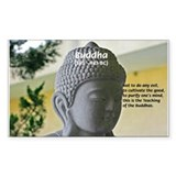 Eastern Philosophy: Buddha Rectangle Decal