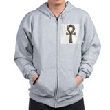 3-D Ankh Zipped Hoody