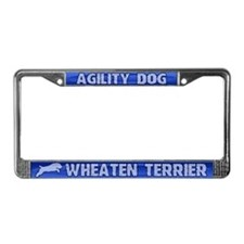 Agility Wheaten Terrier License Plate Frame
