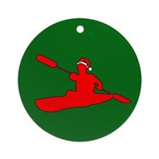 Christmas Kayak Ornament (Round)