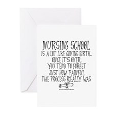 Nursing School like Birth Greeting Cards (Pk of 10
