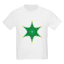 Christmas Snowflake (on white Kids T-Shirt