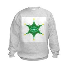 Christmas Snowflake (on white Sweatshirt
