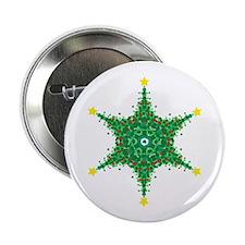 Christmas Snowflake (on white Button