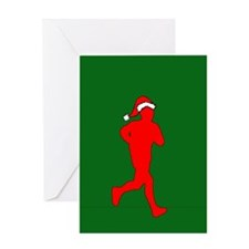 Christmas Runner Greeting Card