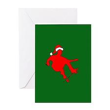 Christmas Skateboarder Greeting Card
