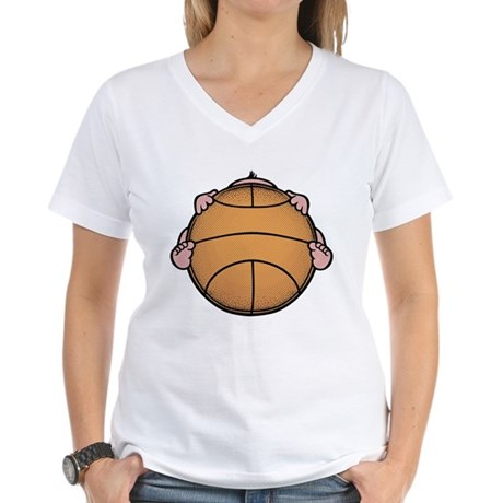 Basketbaby Women's V-Neck T-Shirt