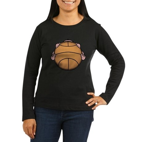 Basketbaby Women's Long Sleeve Dark T-Shirt
