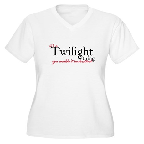 Twilight Thing Women's Plus Size V-Neck T-Shirt