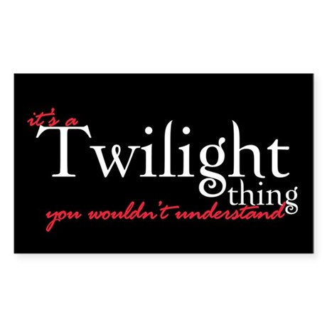 Twilight Thing Rectangle Sticker 50 pk)