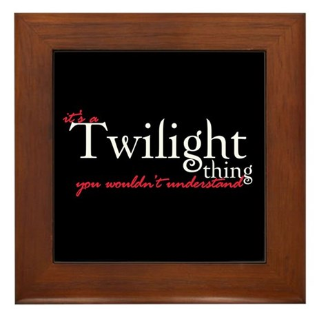 Twilight Thing Framed Tile