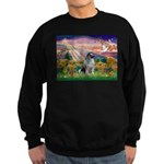 Autumn Angel/Keeshond Sweatshirt (dark)