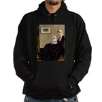 Whistler's Mother Maltese Hoodie (dark)