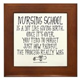 Nursing School like Birth Framed Tile