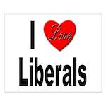 I Love Liberals Small Poster