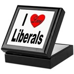 I Love Liberals Keepsake Box