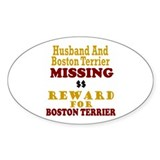Husband & Boston Terrier Missing Oval Decal