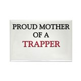 Proud Mother Of A TRAPPER Rectangle Magnet (10 pac
