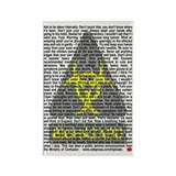 Biohazard Warning Rectangle Magnet (100 pack)