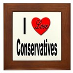 I Love Conservatives Framed Tile