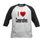 I Love Conservatives Kids Baseball Jersey
