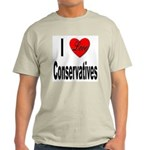 I Love Conservatives (Front) Ash Grey T-Shirt
