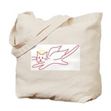 Black and White Angel Kitty Tote Bag