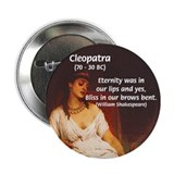 Female Pharoah Cleopatra Button
