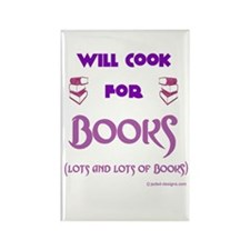 Will Cook For Books Rectangle Magnet