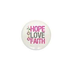 HopeLoveFaith X-Mas Mini Button (10 pack)