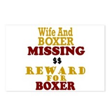 Wife & Boxer Missing Postcards (Package of 8)