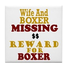 Wife & Boxer Missing Tile Coaster