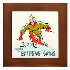 Extreme Skiing Framed Tile