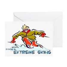 Extreme Skiing Greeting Cards (Pk of 10)