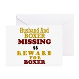 Husband & Boxer Missing Greeting Cards (Pk of 20)