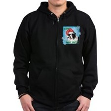 Holiday Border Collie Zip Hoodie