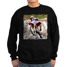 Dirt bike wheeling in mud Sweatshirt