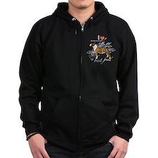 Miniature Bull Terrier Zip Hoodie