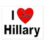 I Love Hillary Small Poster