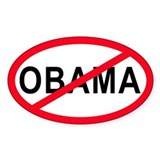 Anti-Obama Oval  Aufkleber