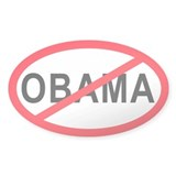 Anti-Obama Oval Decal
