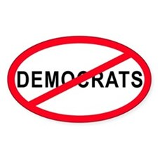 Anti-Democrats Oval Decal