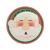 "Jolly Santa 3.5"" Button"
