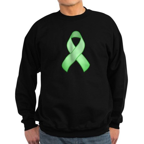 Light Green Awareness Ribbon Sweatshirt (dark)