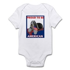 Beardie and US Flag Infant Bodysuit