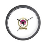 PRETIEUX Family Crest Wall Clock