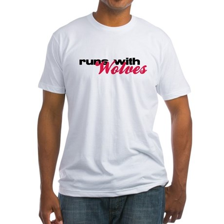 Runs With Wolves Fitted T-Shirt