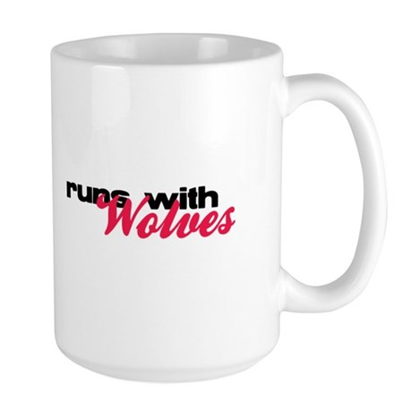 Runs With Wolves Large Mug