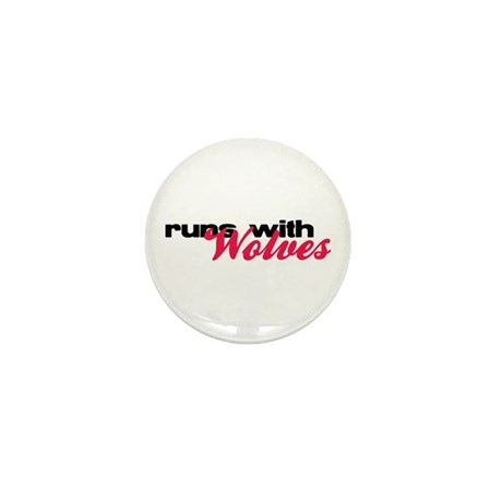 Runs With Wolves Mini Button (10 pack)